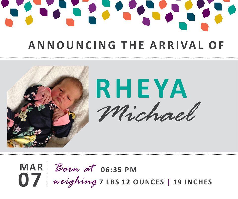 Rheya Michael 1