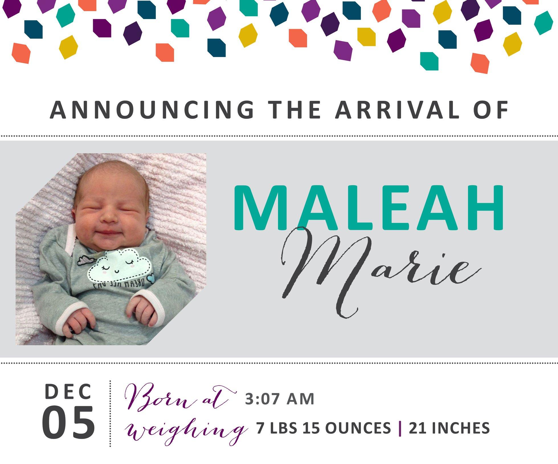 Maleah Marie 1
