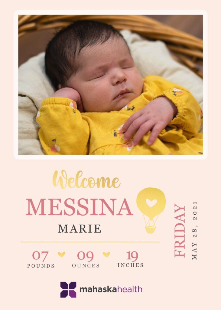 Welcome Messina Marie! 6