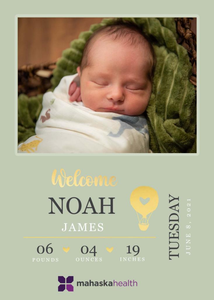 Welcome Noah James! 6