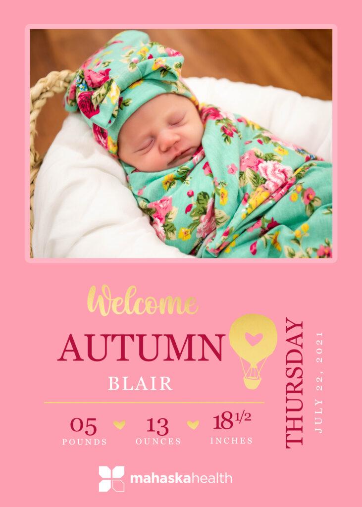 Welcome Autumn Blair! 6