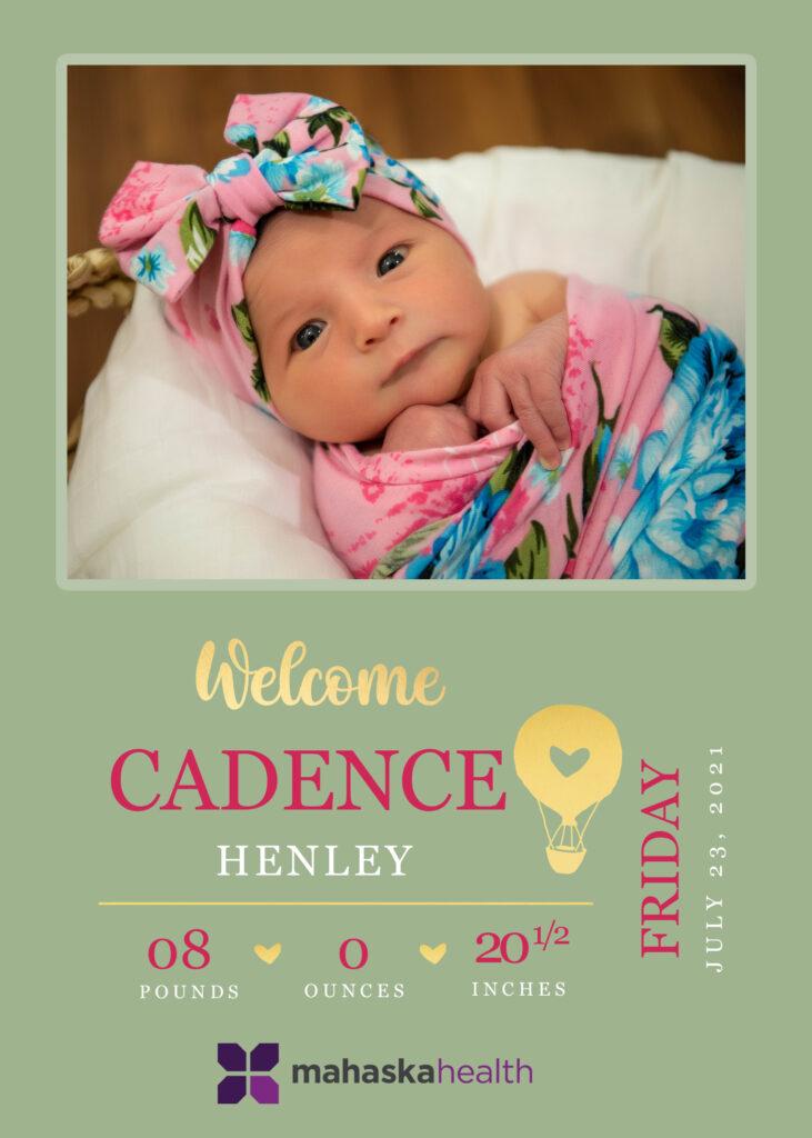 Welcome Cadence Henley! 6
