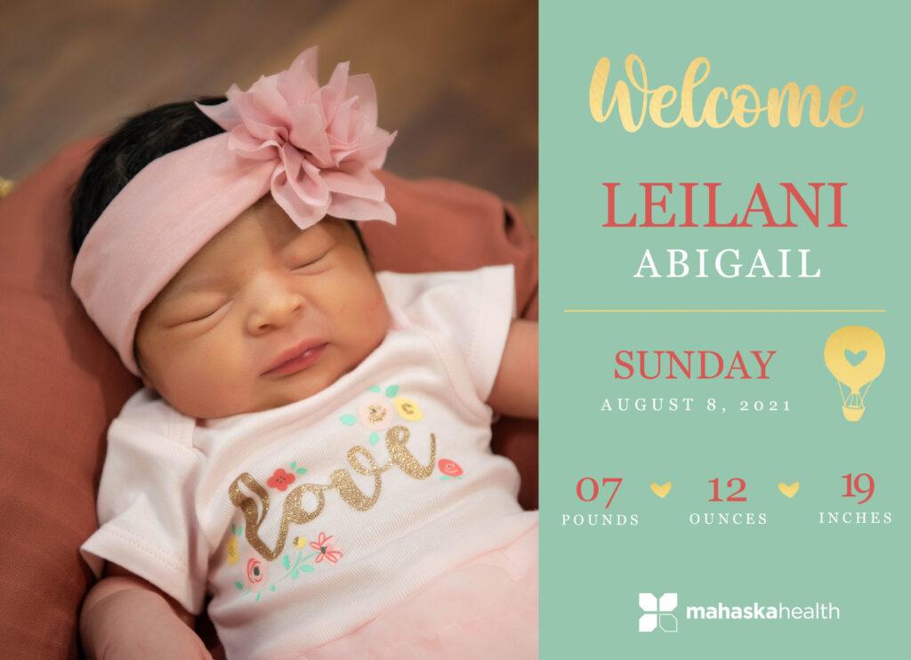 Welcome Leilani Abigail! 6