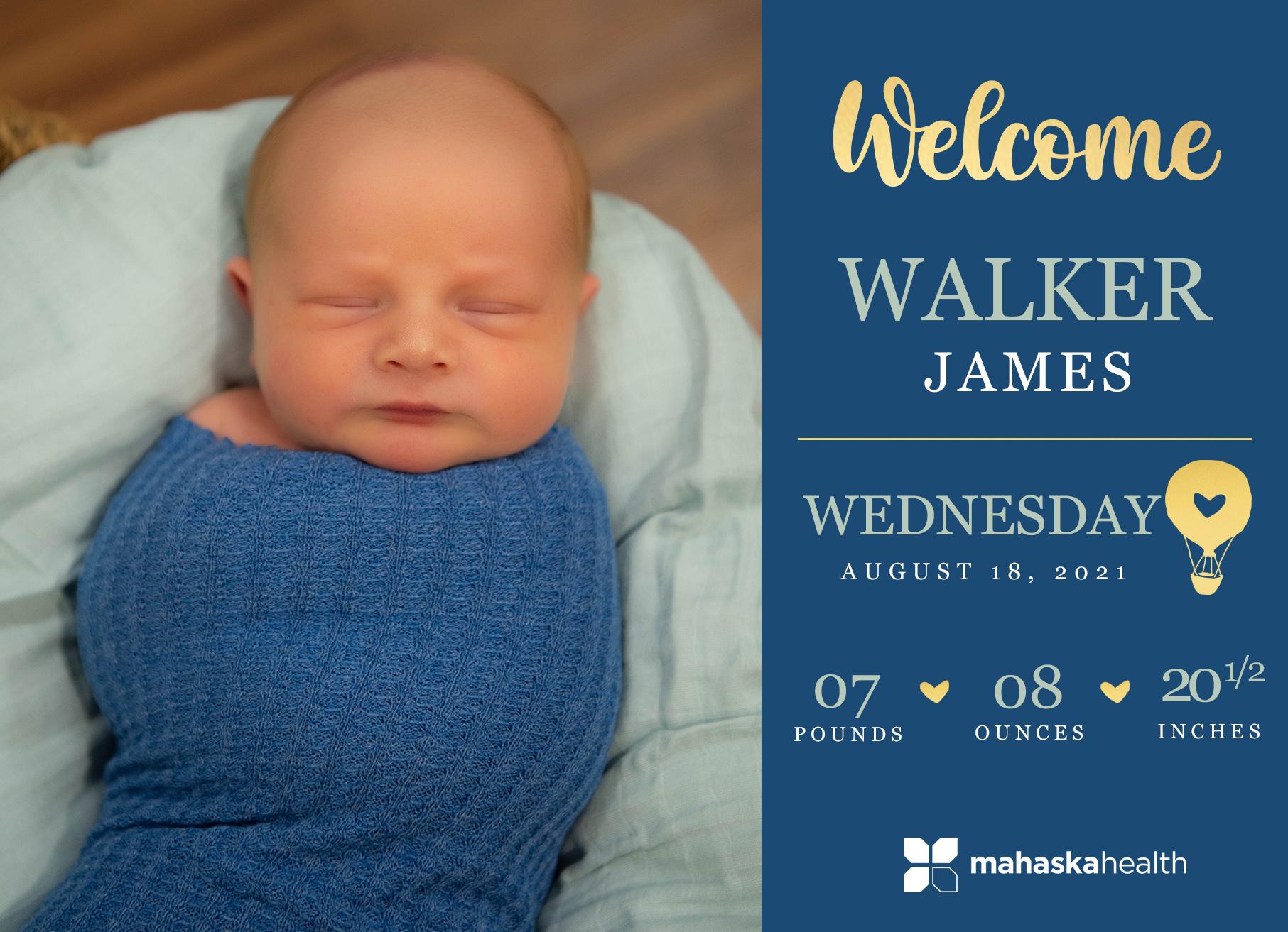 Welcome Walker James! 6