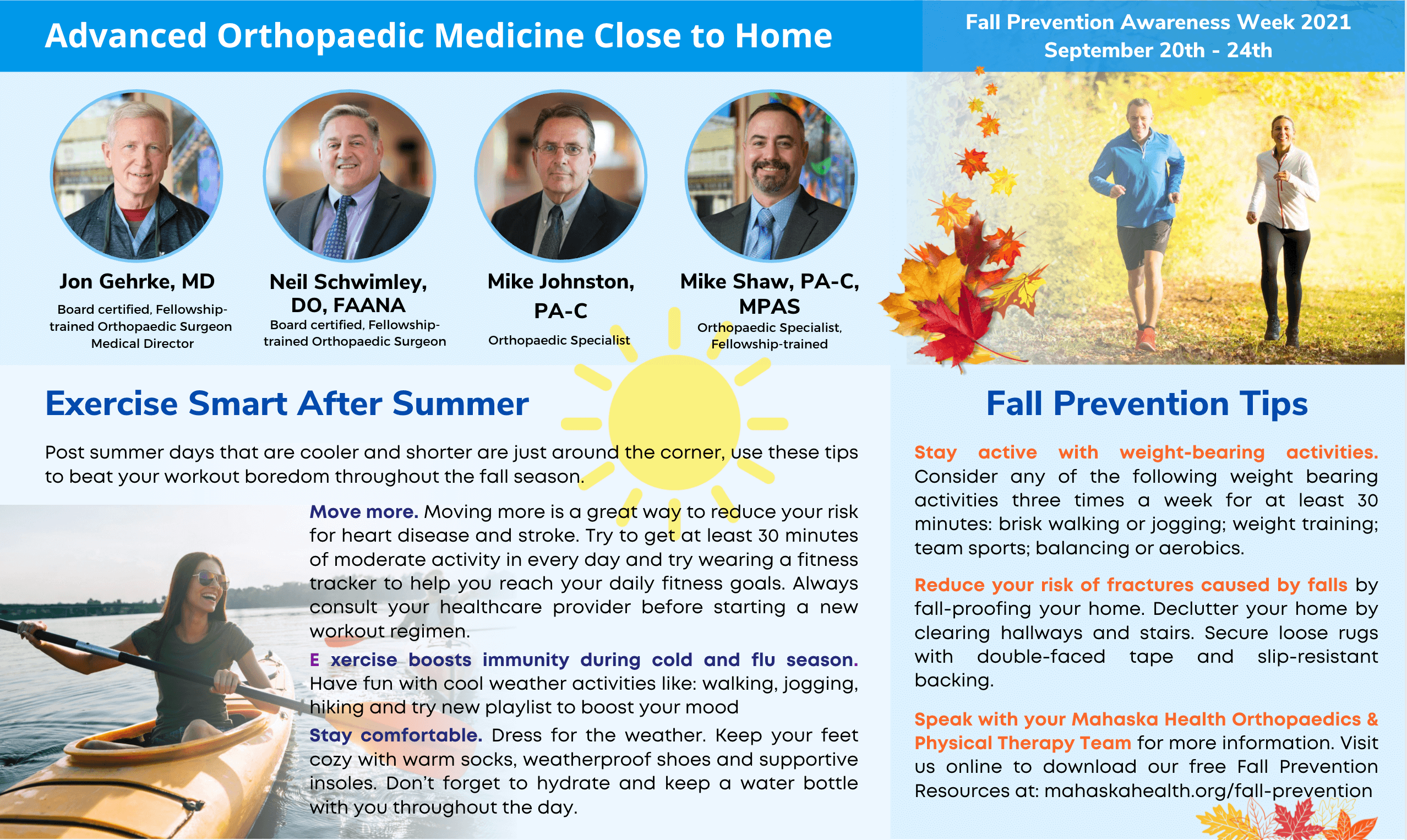 Fall Prevention Tips from your Orthopaedics & Physical Therapy Team 1