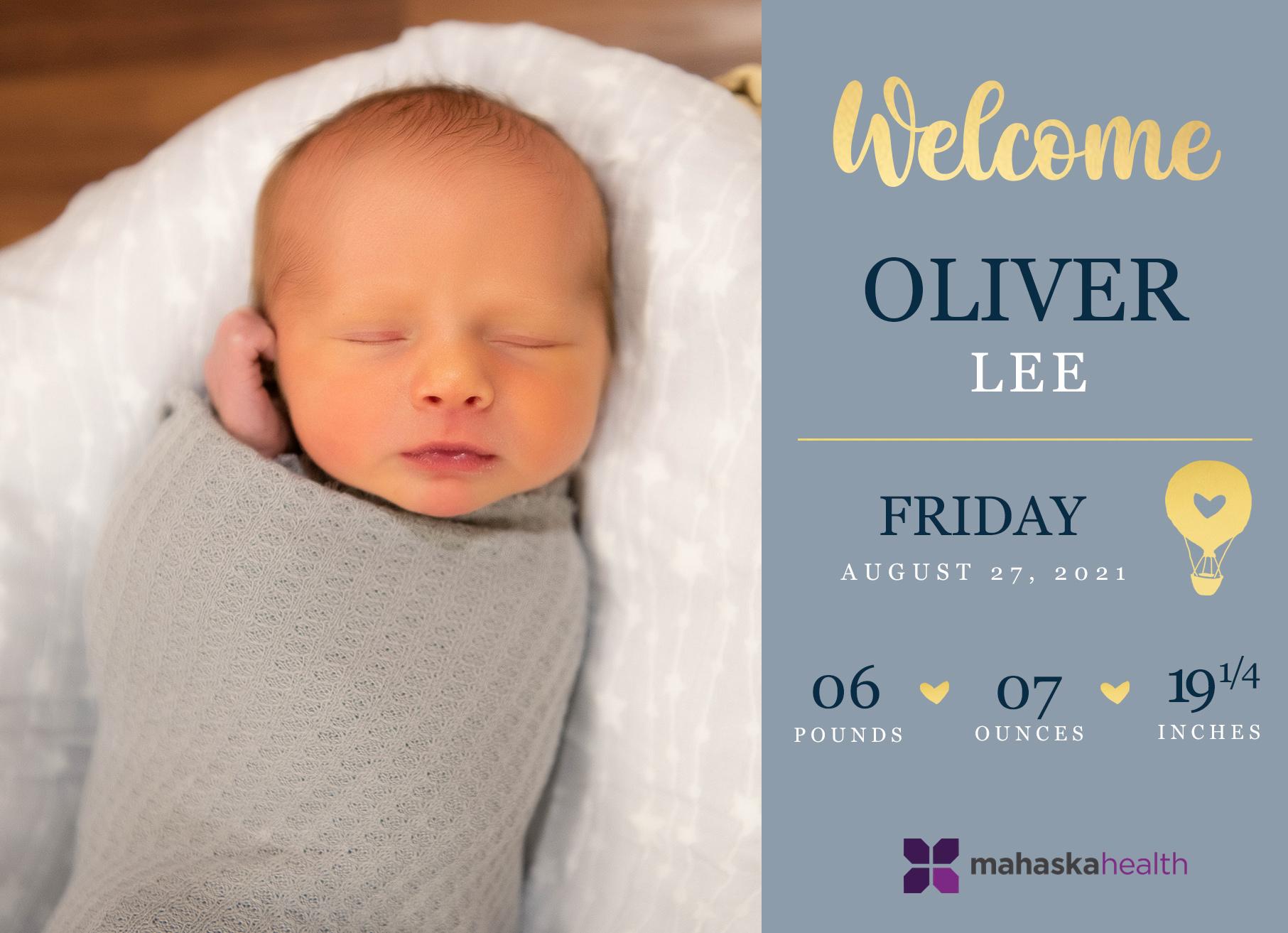 Welcome Oliver Lee! 6